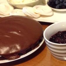 Dairy and egg free, chocolate cake