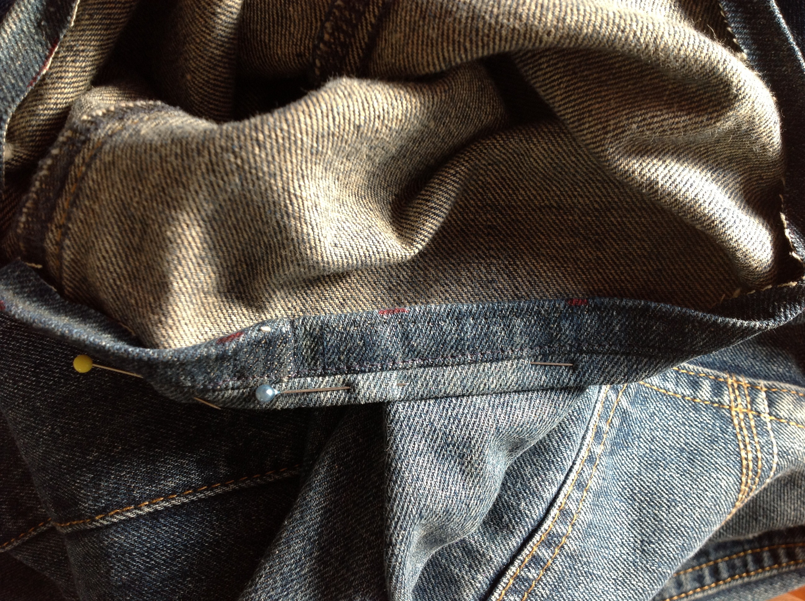 jeans, life skills, learning from young, sewing with children , Sigrid Styleknit, fashion incubator