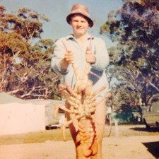 Fearless in youth, mature age style fishing, Barramundi , fish gourmet meal at home, gourmet cooking, easy meals at home. Wordless Wednesday, lobster, spear fishing